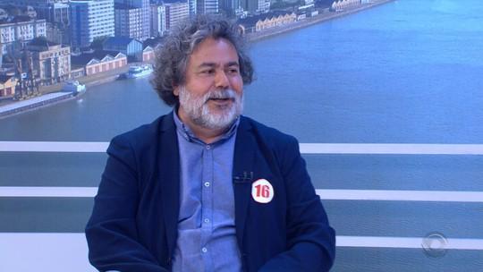 Julio Flores, candidato ao governo do RS, é entrevistado no Jornal do Almoço