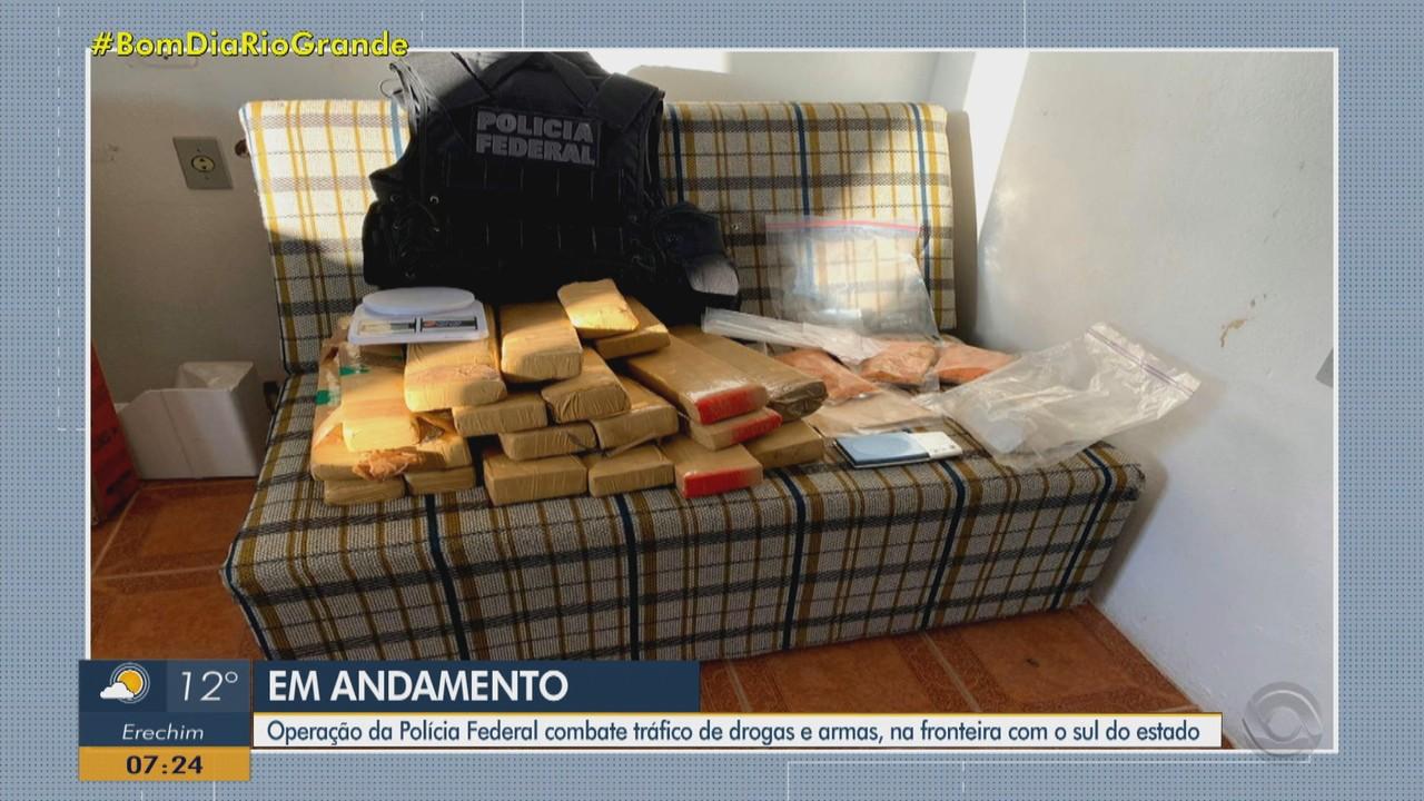 PF prende grupo investigado por tráfico de drogas e armas no RS