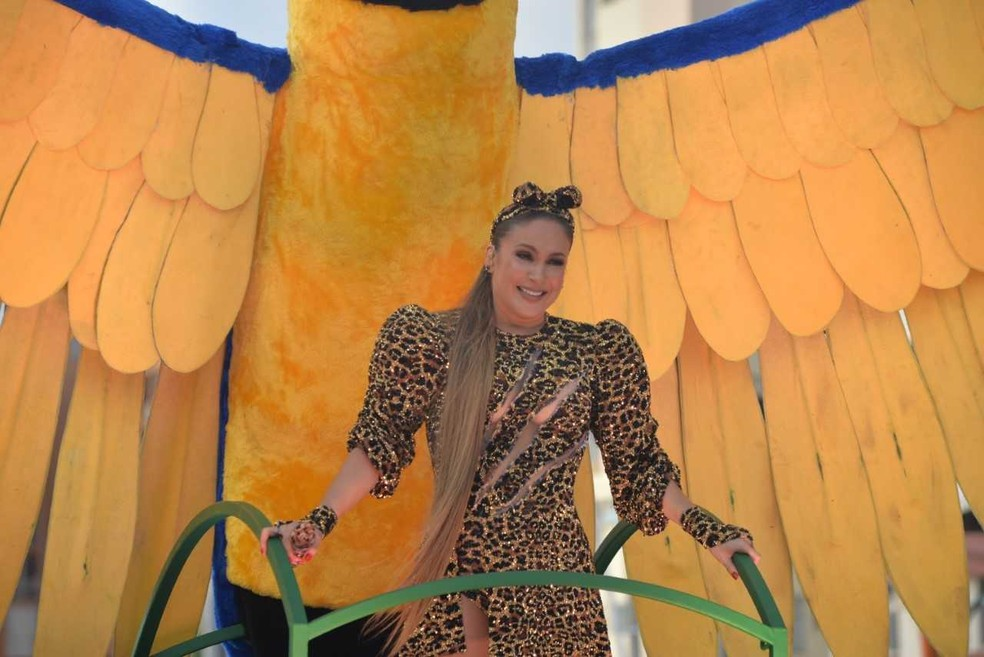 Já grávida, Claudia Leitte se emocionou no carnaval de Salvador — Foto: Joílson César/ Ag Haack