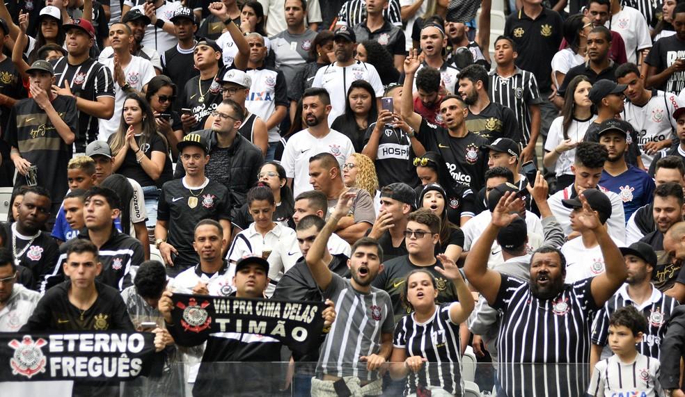Corinthians tem a melhor média de público do Campeonato Paulista — Foto: Marcos Ribolli