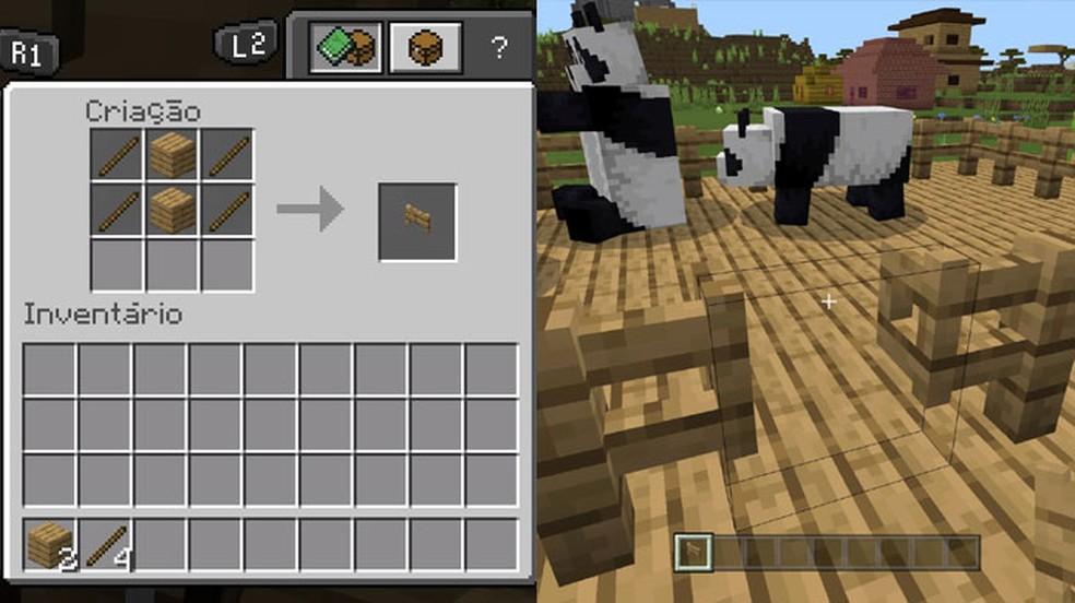 Um Portão garante fácil entrada para a Cerca em Minecraft — Foto: Reprodução/Rafael Monteiro