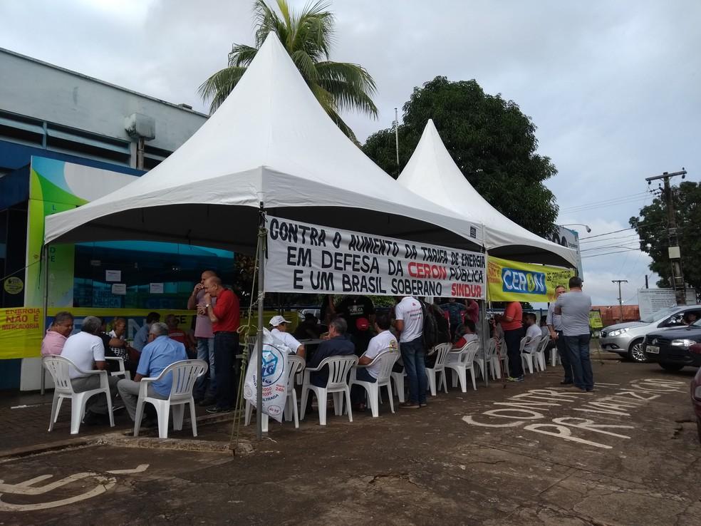 -  Servidores da Eletrobras e Eletronorte realizam paralisação em Rondônia  Foto: Hosana Morais/G1