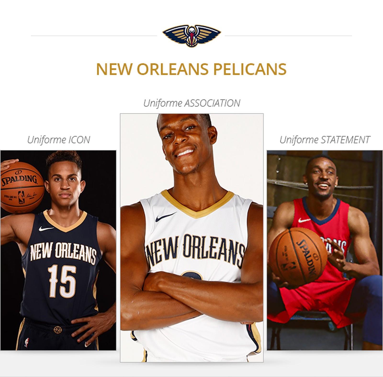 Uniformes New Orleans Pelicans saison 2017/18
