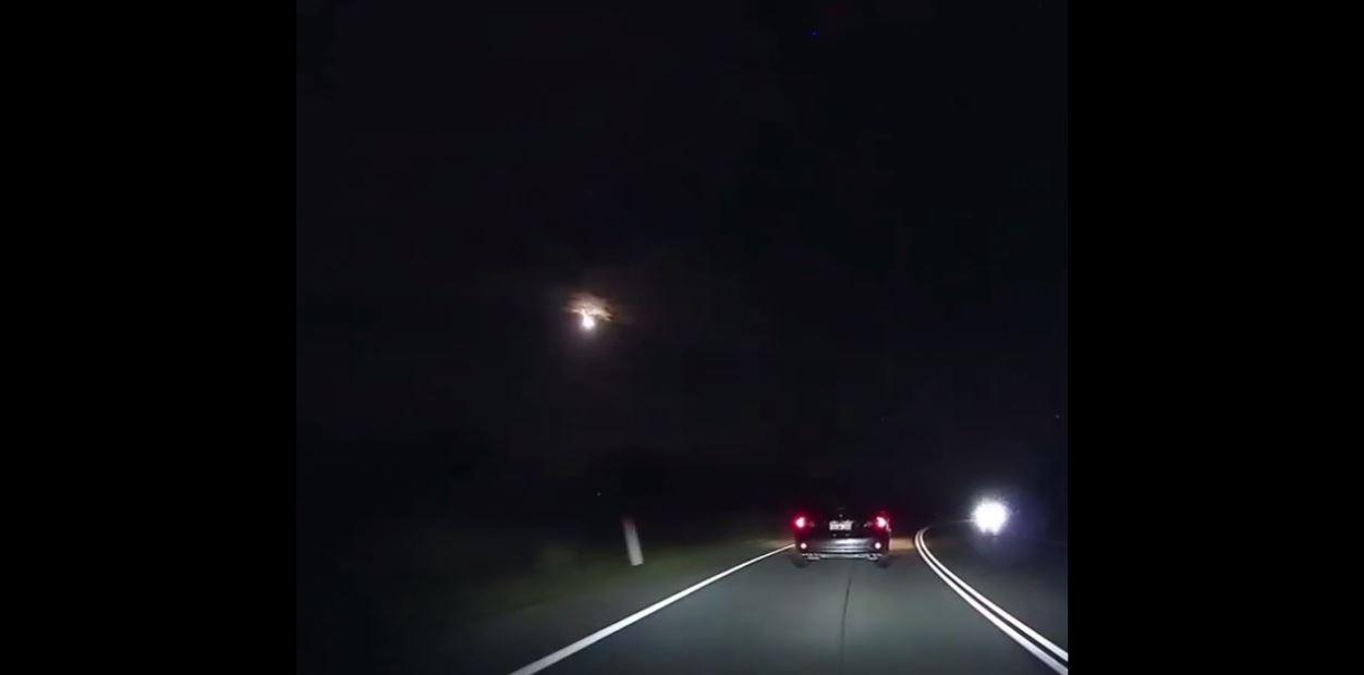 Meteoro em Perth, Austrália. (Foto: Reprodução / YouTube)