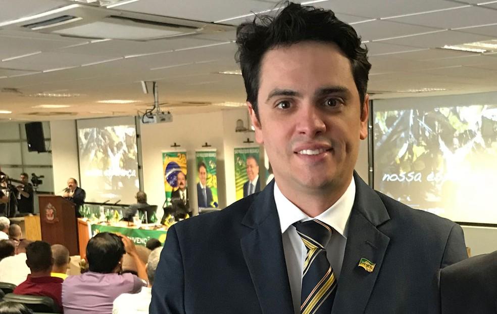 Rodrigo Tavares é oficializado como candidato do PRTB ao governo de São Paulo (Foto: Caio Prestes/TV Globo)