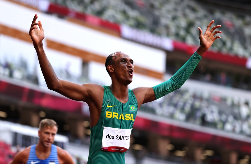 Alison dos Santos atletismo bronze Olimpíadas de Tóquio — Foto: Lucy Nicholson/Reuters