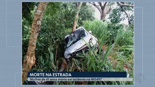 Carro aquaplana e causa acidente na MG-497 em Iturama