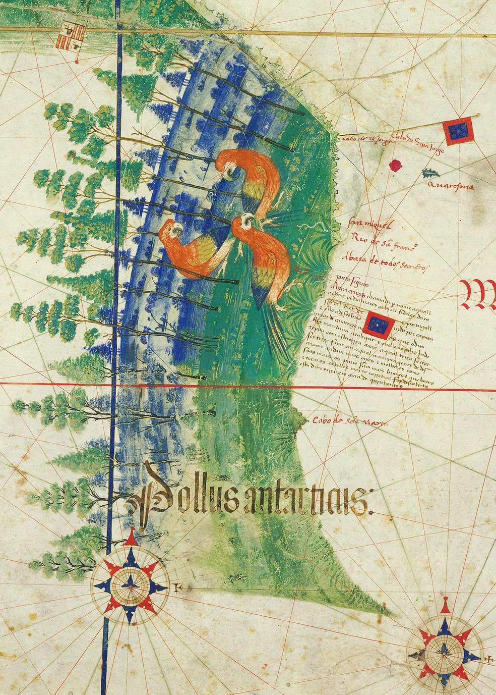 """O chamado """"Planisfério de Cantino"""" é uma cópia de um importante mapa oficial que ficava guardado a sete chaves na época do Brasil Colônia. — Foto: Alberto Cantino/Arquivo Pessoal"""