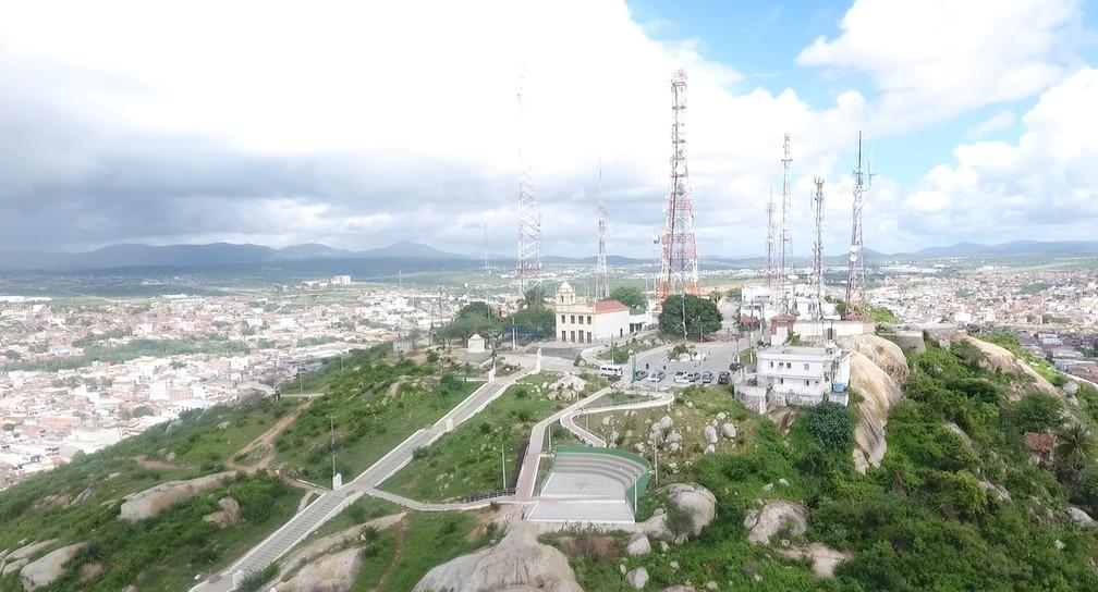 Monte Bom Jesus, o ponto mais alto de Caruaru â?? Foto: Reprodução/TV Asa Branca