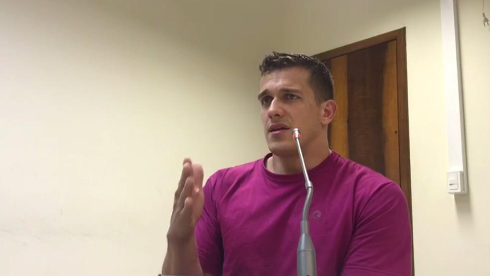 Audiência de custódia de Luis Felipe Manvailer foi realizada na segunda-feira (23), em São Miguel do Iguaçu (Foto: Reprodução)
