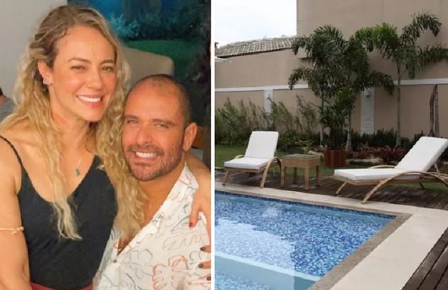 Paolla Oliveira e Diogo Nogueira começaram a namorar no primeiro semestre de 2021. Veja como é a casa do cantor, no Rio (Foto: Reprodução/Instagram e Carol Caminha/TV Globo)