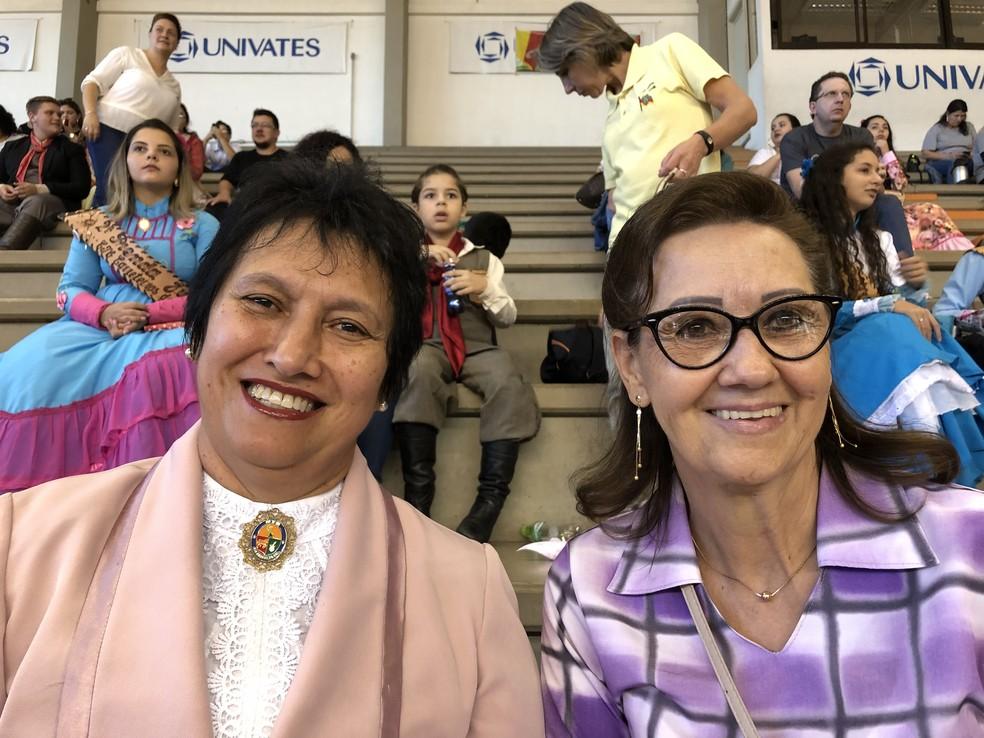 Elenir e Gilda, candidatas ao MTG em 2020. — Foto: Giovani Grizotti