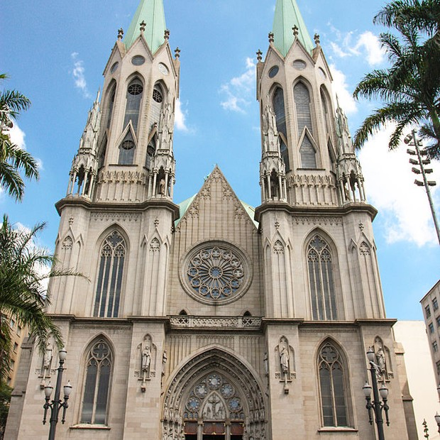 [UNVERIFIED CONTENT] A Catedral Metropolitana de São Paulo ou Catedral da Sé, é um dos cinco maiores templos neogóticos do mundo.The Metropolitan Cathedral or Sé Cathedral,  is one of the five largest neo-gothic churches in the world. (Foto: Flickr Vision)