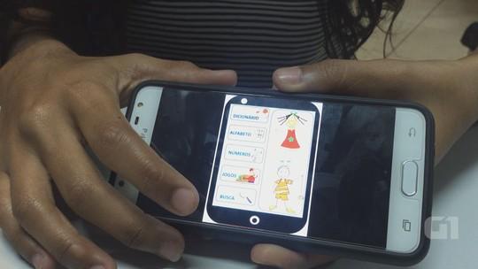 Estudantes da Etec de Araraquara criam aplicativo para ensinar libras para crianças
