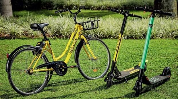 Patinete da Grin e bicicleta da Yellow (Foto: Divulgação)