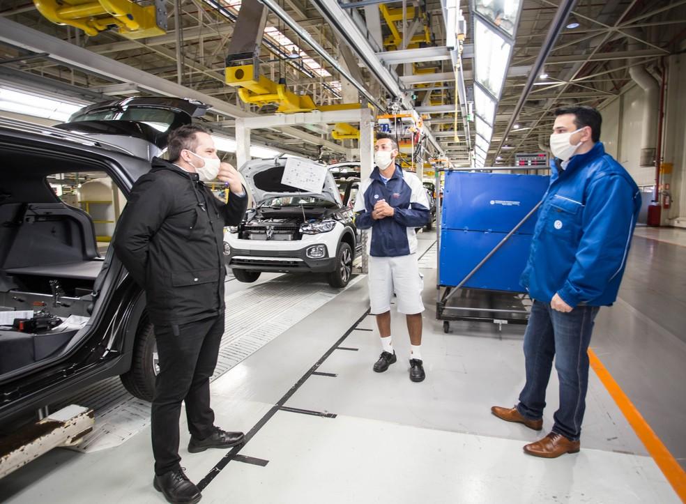 Volkswagen retoma produção de veículos em São José dos Pinhais (PR) — Foto: Divulgação/Volkswagen