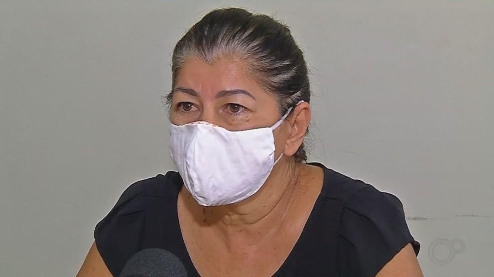 Genuina Paixão Soares Fabrão, esposa do secretário de Obras de Itapura (SP) — Foto: Reprodução/TV TEM