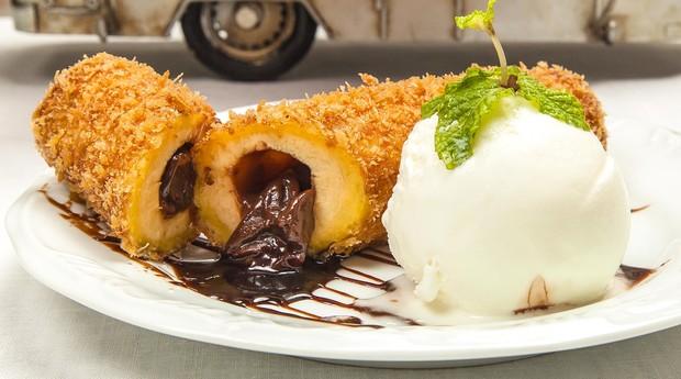 Banachoco prato do Banana's Café Gourmet  (Foto: Divulgação )