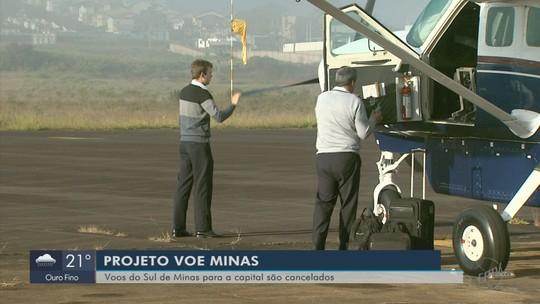 Governo de Minas suspende voos regionais entre BH e cidades do Sul de MG