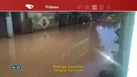 Chuva deixa ruas alagadas em municípios do Espírito Santo