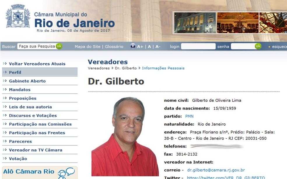 Gilberto foi preso na manhã desta terça-feira (Foto: Reprodução / TV Globo)