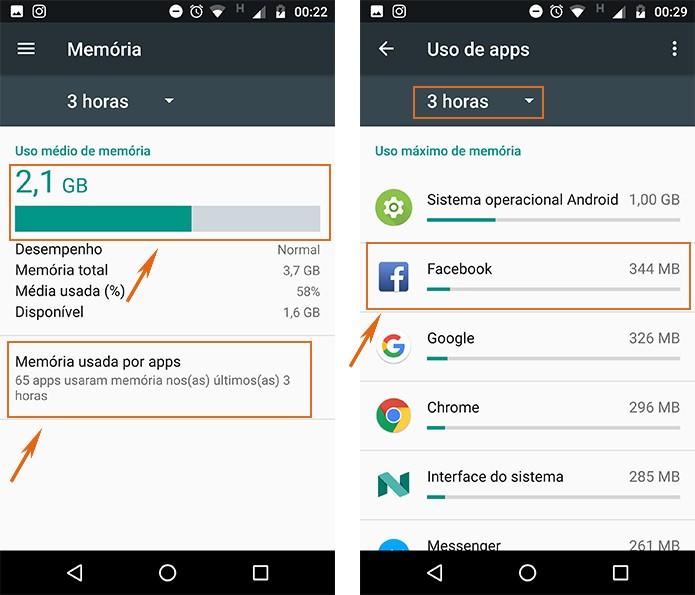 Selecione a memória utilizada pelos apps no celular Android