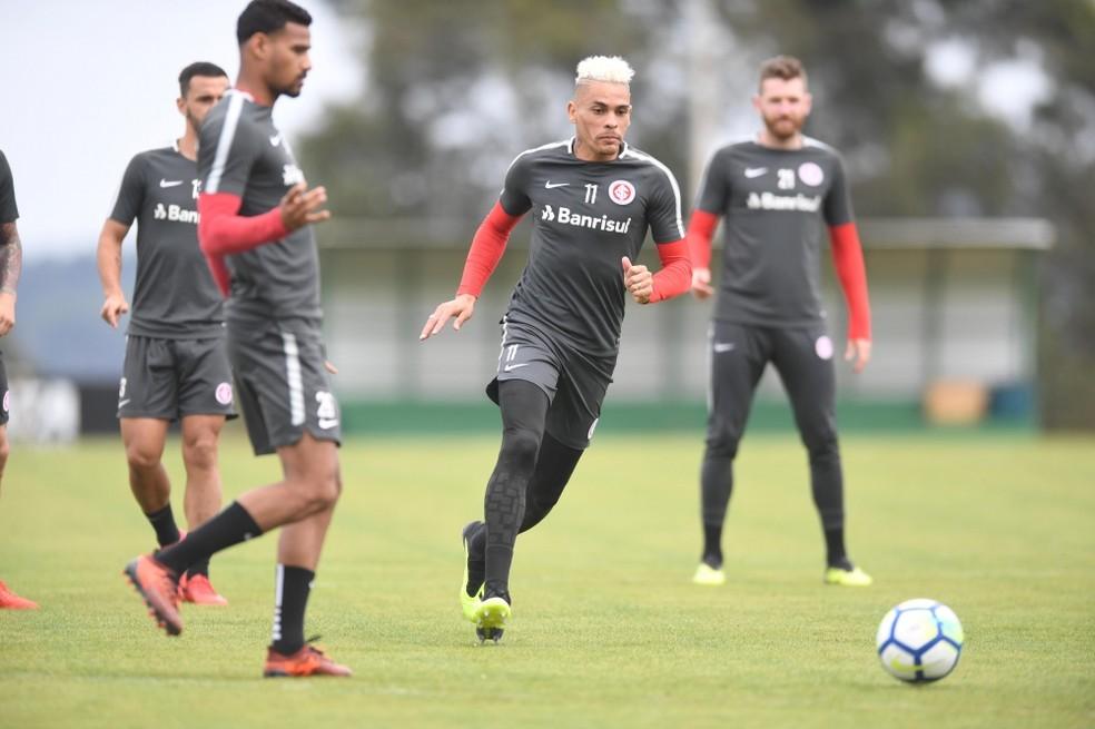 Treino não indicou time titular para segunda  — Foto: Ricardo Duarte / Inter, DVG