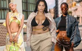 Barriga à mostra: a tendência retorna durante a semana de moda de NY