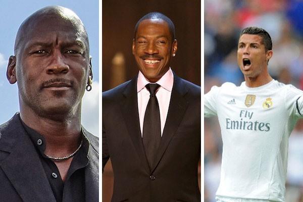 Michael Jordan, Eddie Murphy e Cristiano Ronaldo já abriram a carteira a fim de se distanciarem das mães de seus filhos (Foto: Getty Images)