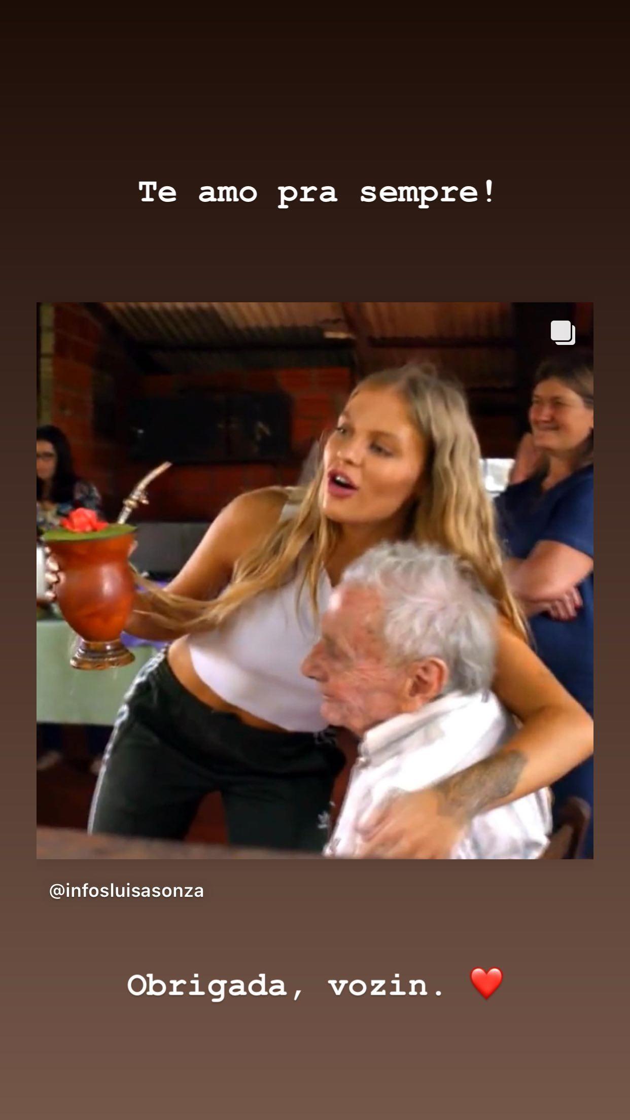 Luísa Sonza lamenta morte do avô (Foto: Reprodução/Instagram)