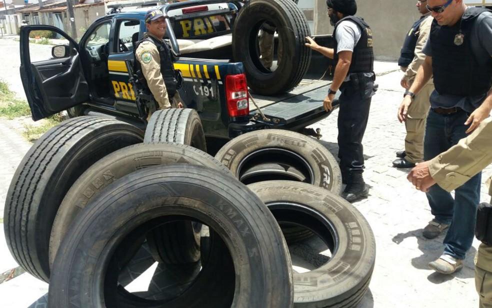 PRF e Polícia Federal deflagraram a operação Estrada Livre na manhã desta terça-feira (Foto: Divulgação/PRF)