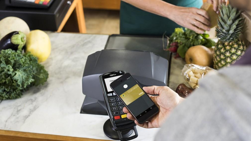 -  Android Pay, sistema de pagamento criado pelo Google para celulares.  Foto: Divulgação/Google
