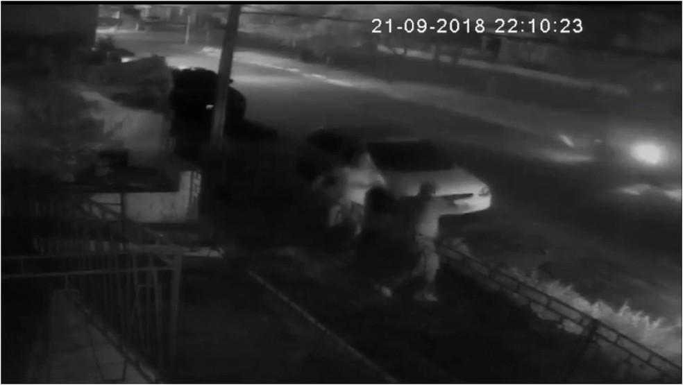 Marcos Braga Ponte foi levado por criminosos próximo a um bar na Zona Sul de Natal — Foto: Reprodução/Inter TV Cabugi