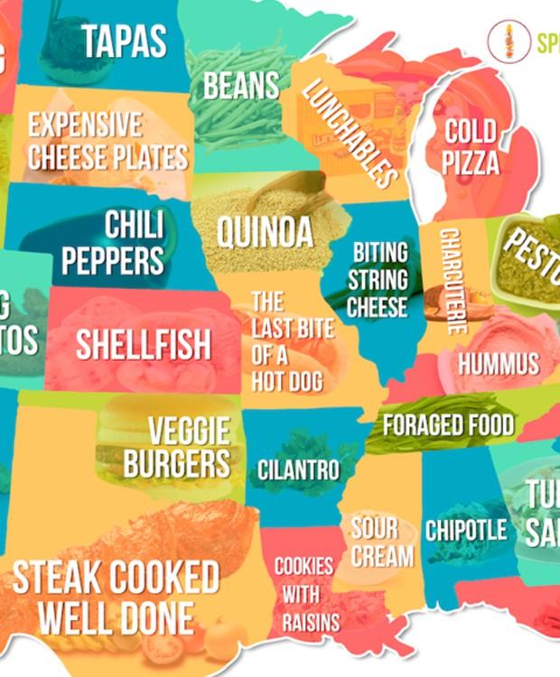 Os alimentos menos apreciados pelos moradores do centro-sul dos Estados Unidos (Foto: Hater)