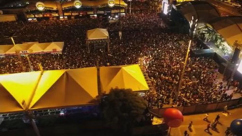 Área do Mercados ficou lotada  — Foto: Reprodução/TV Sergipe
