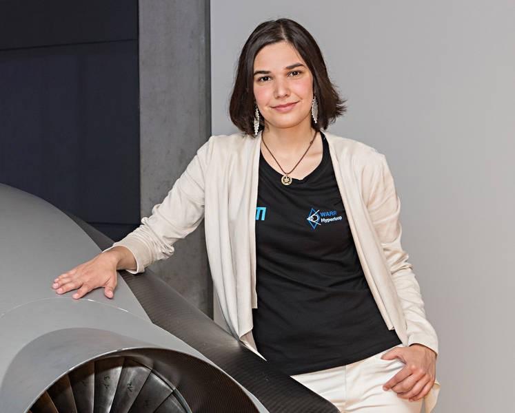 A brasileira Mariana Avezum, que venceu competição de protótipo do Hyperloop (Foto: Divulgação)