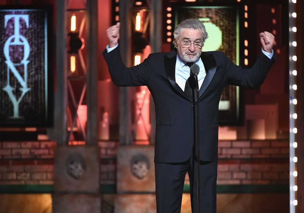 Robert De Niro pouco após dizer 'F***-se Trump' no palco do Tony Awards 2018 (Foto: Theo Wargo/Getty Images North America/AFP)