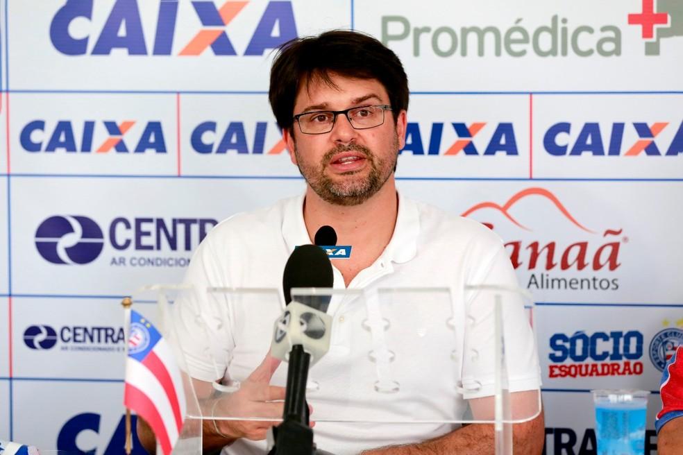 Presidente questionou qualidade da arbitragem — Foto: Felipe Oliveira/Divulgação/EC Bahia