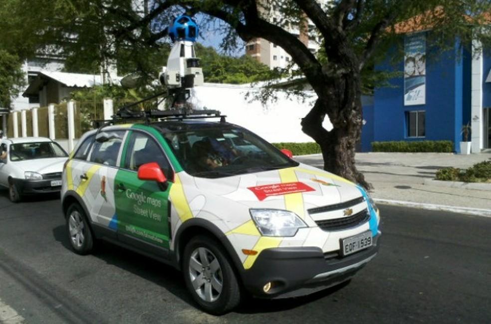 Veículo do Google leva câmeras que fazem filmagem em 360 graus (Foto: Rodrigo Coimbra/Arquivo Pessoal)