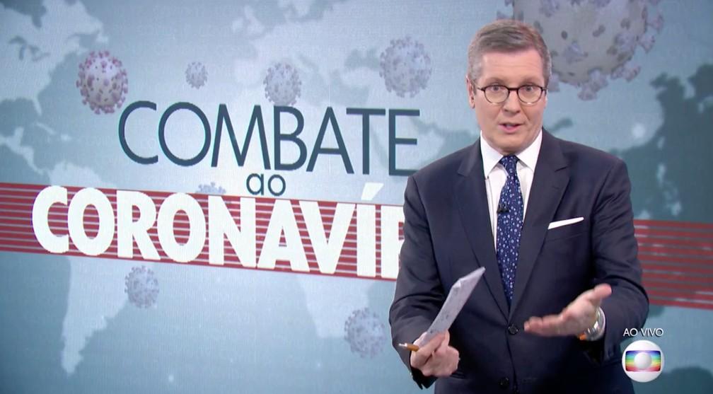 Despedida Márcio Gomes no Combate ao Coronavírus — Foto: Reprodução/Globo