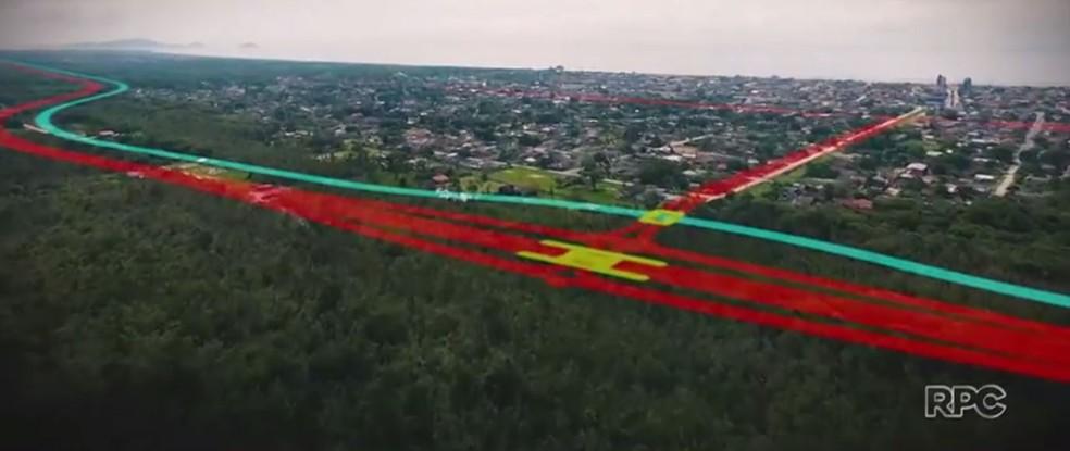 Conselho do Litoral tinha aprovado licença prévia para obra milionária proposta pelo Estado do Paraná (Foto: Reprodução/RPC)