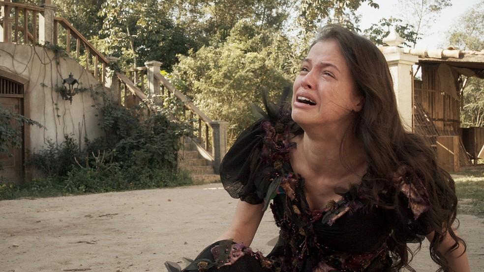 Domitila (Agatha Moreira) perde a confiança de Dom Pedro (Caio Castro) e é expulsa do Solar, em 'Novo Mundo' — Foto: TV Globo