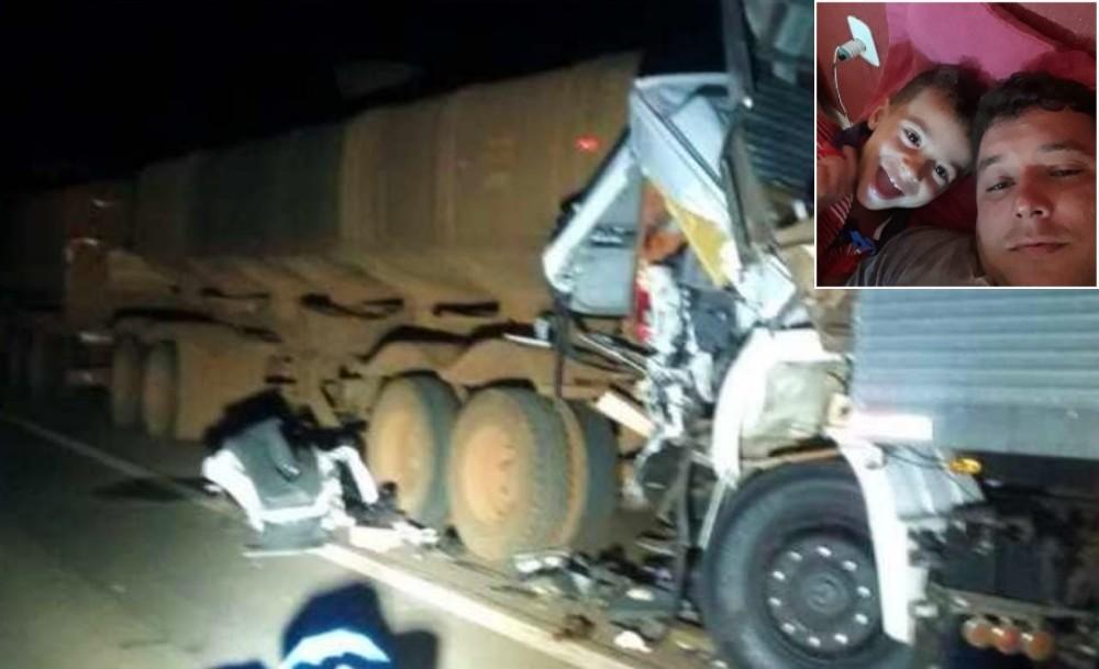 Pai e filho mortos em acidente com três caminhões costumavam viajar juntos, diz amigo