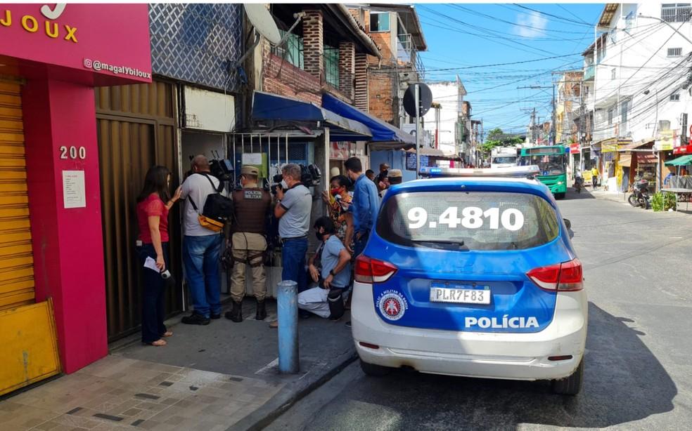 Caso acontece no bairro de Sussuarana — Foto: Rildo de Jesus/TV Bahia