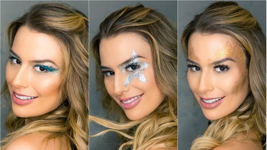 Maquiagem de Carnaval: Fernanda Keulla mostra looks com glitter para arrasar na folia