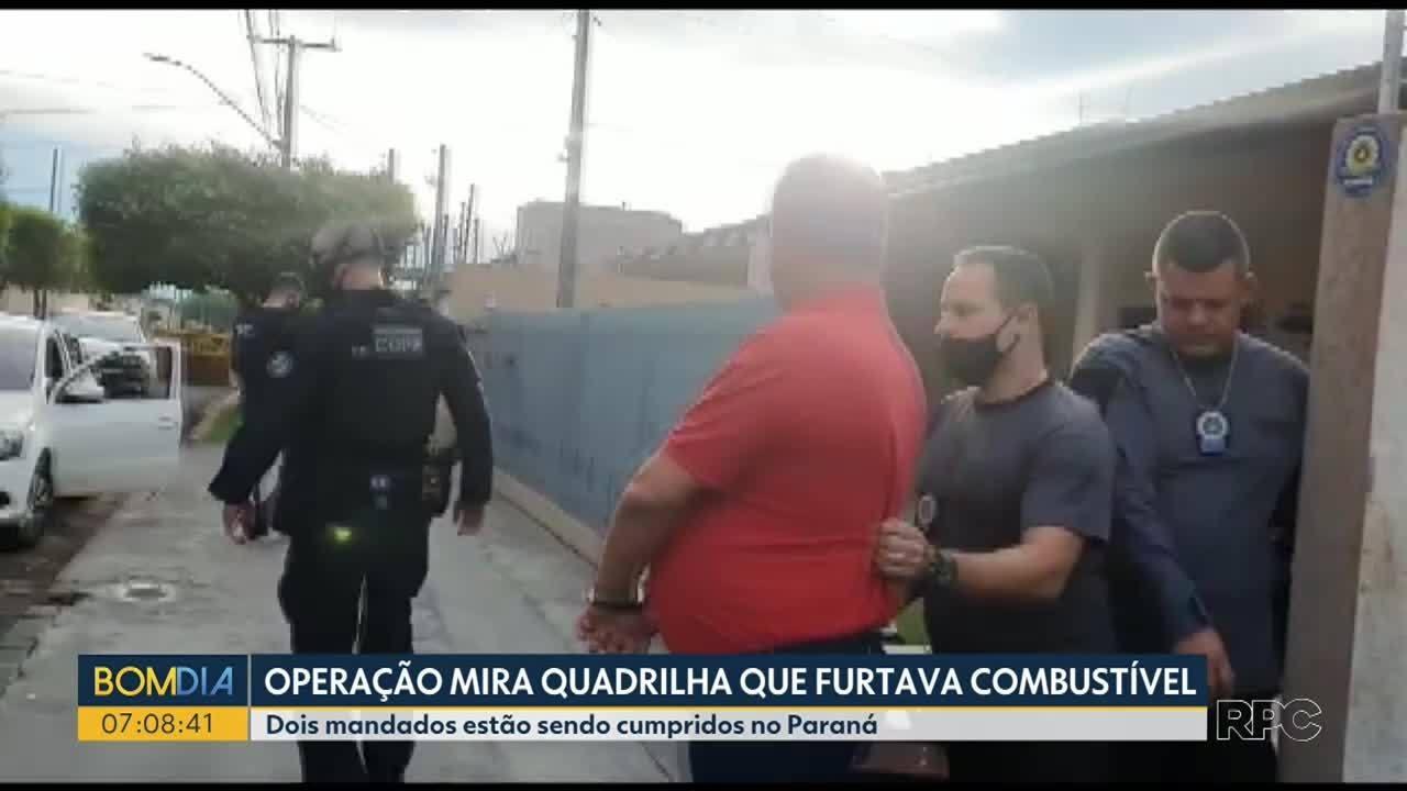 Operação prende sete suspeitos de furtar combustíveis de dutos