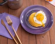 Receita de cuscuz com ovo frito
