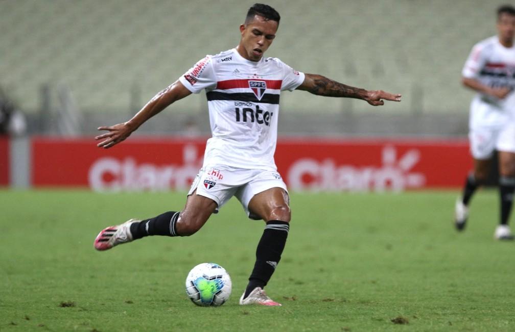 Igor Vinicius em jogo do São Paulo — Foto: Rubens Chiri / saopaulofc.net