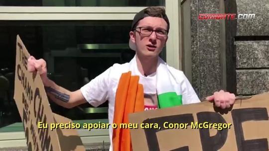 Fã de Conor McGregor defende lutador antes de audiência em Nova York