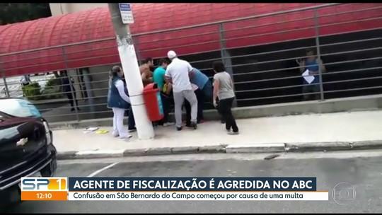 Agente de fiscalização é agredida no centro de São Bernardo do Campo